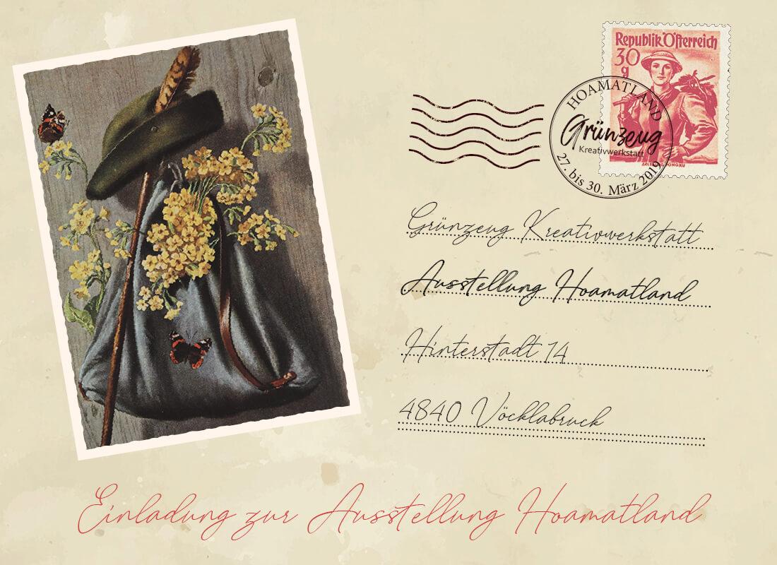 Ausstellung Hoamatland - GRÜNZEUG Kreativwerkstatt